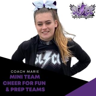 Marie - Coach for Mini team, Cheer for Fun & Prep teams
