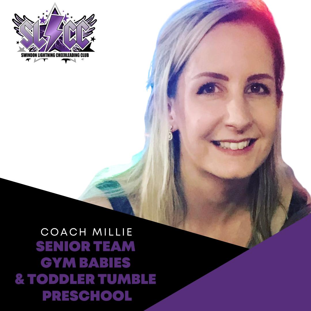 Millie Little - Lead coach Swindon Lightning Cheerleading Club